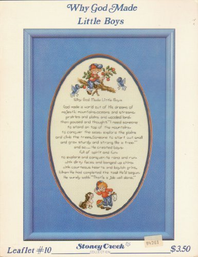 Why God Made Little Boys - Cross Stitch Sampler (Stoney Creek, Leaflet #10)