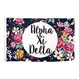 Cheap Alpha Xi Delta Floral Pattern Letter Sorority Flag Greek Letter Use as a Banner Large 3 x 5 Feet Sign Decor alpha zee