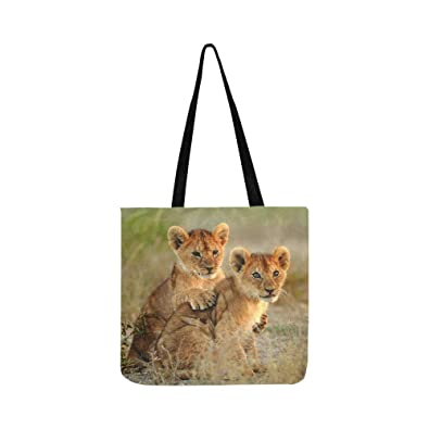 Sav On Bags >> Amazon Com African Lion Roaring With Sunset Silhouette Of Sav