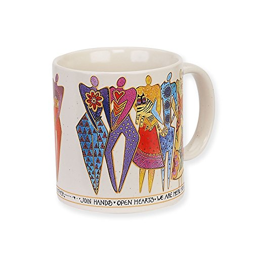 Laurel Burch Artistic Collection 14-ounce Mug, Join Hands