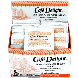 - Cafe Delight Spiced Apple Cider Single Serve Packets 40 CT (BOX)