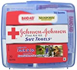 Johnson & Johnson Red Cross Save Travels First Aid Kit, 70 items, (Pack of 2)