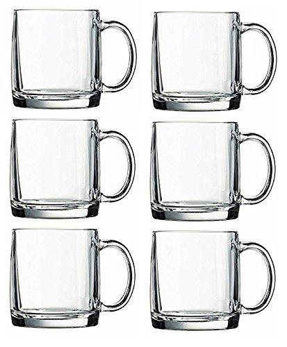 Arc International Luminarc Crystal Coffee Warm Nordic Mug, 13-Ounce (6)