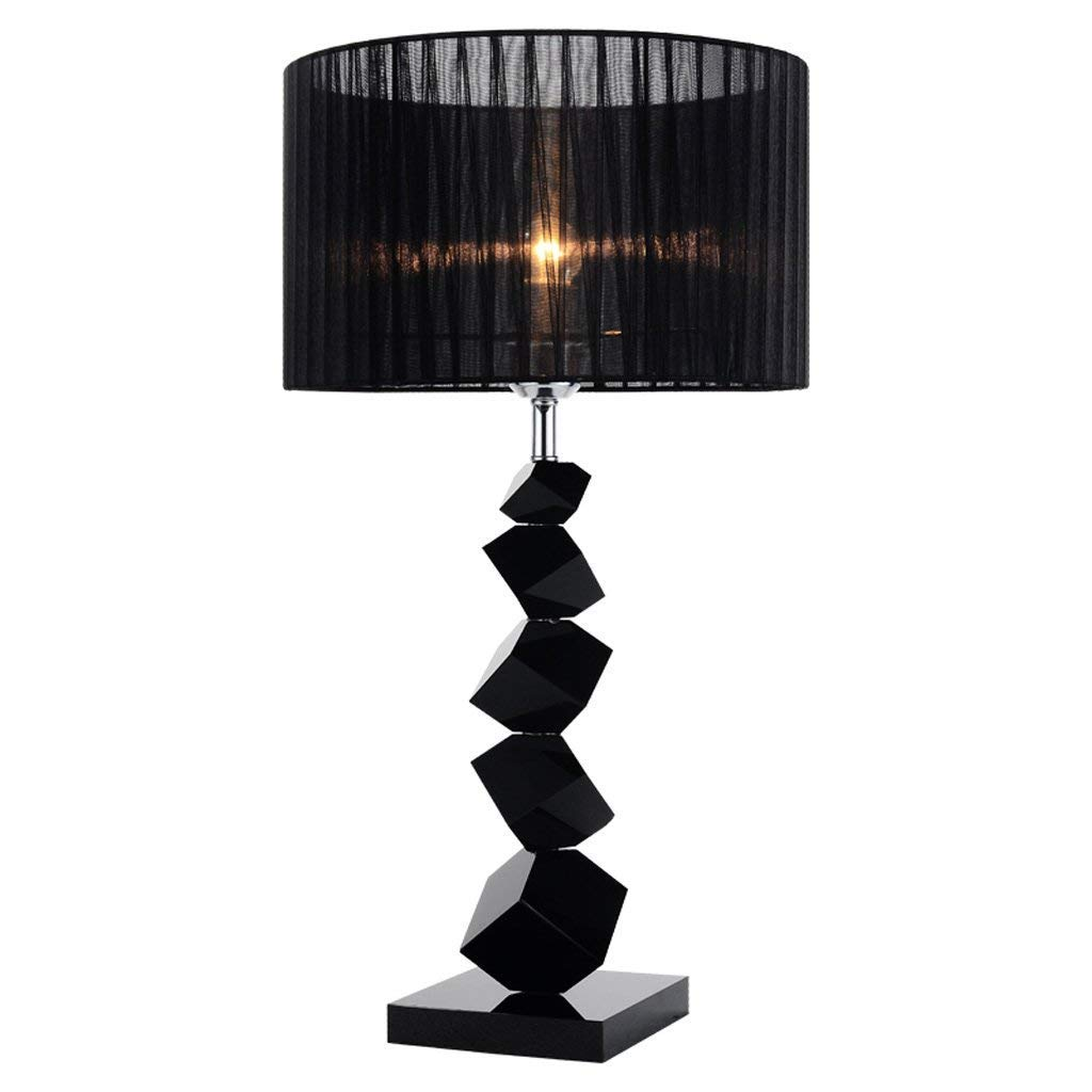 Amazon.com: ChuanHan Ceiling Fan Light Chandelier Lightings Table Lamp Creative Black Crystal Modern Contemporary Led Simple Bedside Fashion Living Room ...