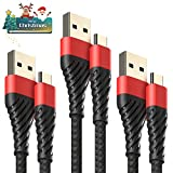 Alyee USB C Cable 3.0, 3 Pack 0.4+4+6ft Type C Cable Fast Charging USB to USB C Cable for Samsung Galaxy Note 8, S8, S9 Plus, LG v20,G6, G5, v30, Google Pixel 2 XL- 3 Pack Black