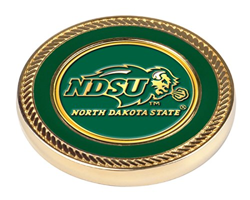 NCAA North Dakota State Bison - Challenge Coin / 2 Ball Markers (Golf Balls Two Bison)