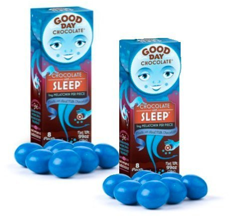 Good Day Chocolate - Milk Chocolate with Pharmaceutical Grade Nutraceuticals for Sleep - Health Supplement with Melatonin & Chamomile {Sleep, 6 Pack}