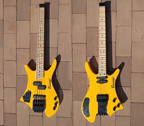 4 Strings Fanned Fret Bass /6 Strings Lead Headless Double Sided Busuyi ()