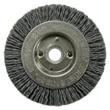 Weiler 31094 Narrow Face Nylox Wheel, 3'', 0.40/120SC Crimped Fill, 1/2''-3/8'' Arbor Hole (Pack of 2)