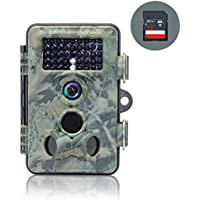[Updated Version] OldShark 12MP 1080P HD Trail and Game Hunting Camera 120 Degree Wide Angle Ip66 Waterproof Scouting Camera 42 Pcs Infrared Night Vision Digital Surveillance Camera with 32G SD Card