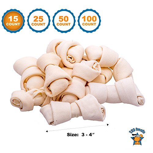 123 Treats - Rawhide Bones Chews 3-4