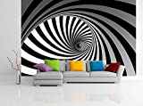 Removable Wallpaper Mural Peel & Stick 3D Spiral (83H X 124W)