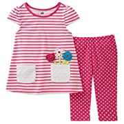 Kids Headquarters Baby Girls Tunic Set-Transitional, Pink/White, 12M
