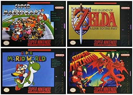 Compra Nintendo SNES - Juego de 4 Posavasos, diseño de Super Mario World y Kart en Amazon.es