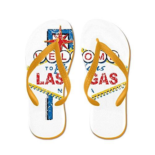 Cafepress Välkommen Till Sagolika Las Vegas - Flip Flops, Roliga Rem Sandaler, Strand Sandaler Apelsin