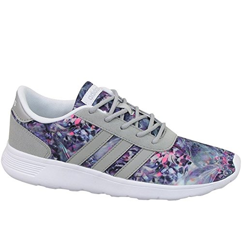 Adidas Lite Racer W - AW3836 - Color Grey-Green-Pink - Size: 8.5