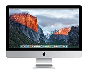 Apple iMac MK482LL/A 27-Inch Retina 5K Display Desktop (Intel Quad-Core i5 3.3GHz, 8GB RAM, 2TB Fusion Drive, Mac OS X), Silver