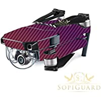 SopiGuard Chameleon Purple Carbon Fiber Precision Edge-to-Edge Coverage Vinyl Skin Controller Battery Wrap for DJI Mavic Pro