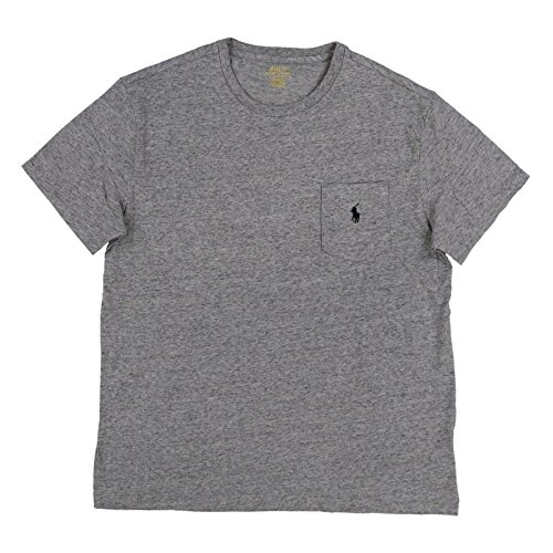 Polo Ralph Lauren Mens Classic Fit Pocket T-Shirt (Large, Misty - Misty Pony
