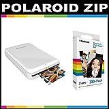 Polaroid ZIP Mobile Printer ZINK Zero Ink Printing Technology - With Polaroid 2x3 inch Premium ZINK Photo Paper (100 Sheets)- White