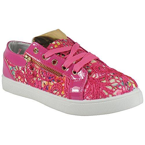 Loud Look - Zapatos Planos con Cordones mujer - PINK FLOWER