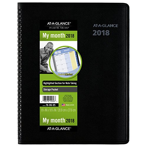 AT-A-GLANCE Monthly Appointment Book / Planner, QuickNotes, January 2018 - December 2018, 8-1/4