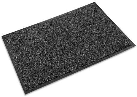 Crown CS0046GY Cross-Over Indoor Outdoor Wiper Scraper Mat, Olefin Poly, 48 x 72, Gray