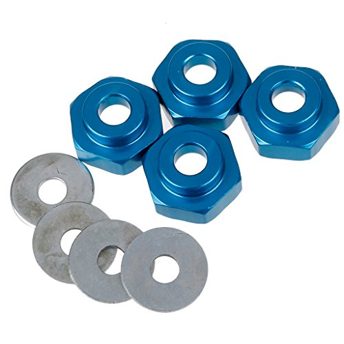 SkyQ 12mm to 17mm Wheel Hex Adapter Alloy Lock Wheel Rim for Installing 1/8 RC Wheels Tires onto 1/10 RC Car