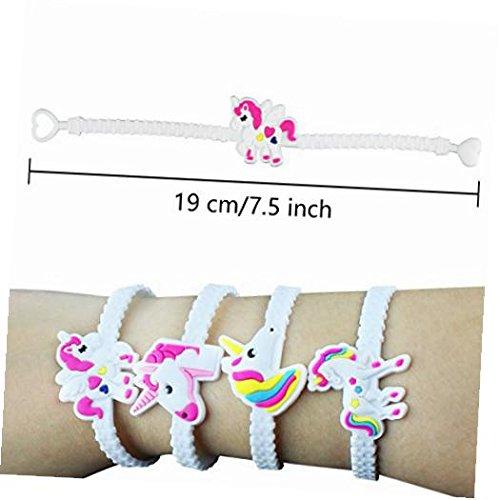 Nikkycozie Emoji Identification party unicorn wristband bracelets, rainbow unicorn birthday favors supplies by Nikkycozie (Image #6)