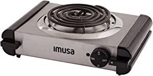 IMUSA USA GAU-80311 Electric Single Burner 1000-Watts, Stainless Steel