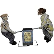 "Forgotten and forsaken, these creepy dolls are left to seesaw alone for all time. See Saw Dolls Playground Halloween Decoration: Animated with sound effects 3 activation options 36""H x 48""W x 13""D Occasion Halloween Size One Size Manufacturer Part Nu..."