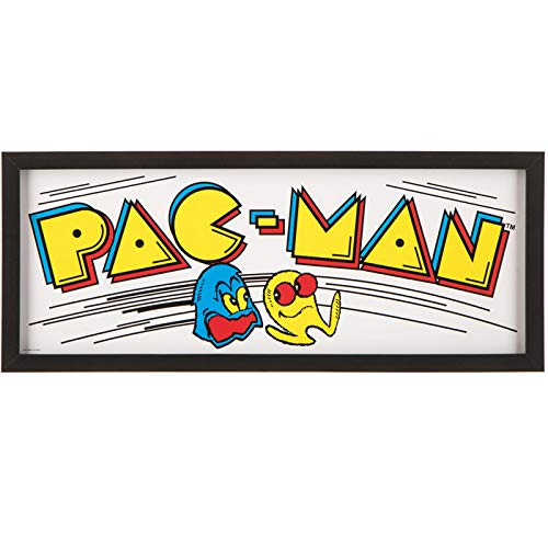 Pac-Man Video Game Framed Wall Art Home Decoration Theater Media Room Man ()