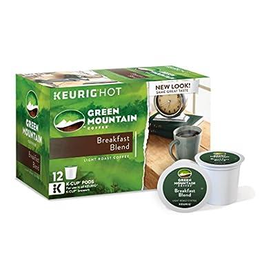 Keurig Green Mountain Coffee K-Cup Packs, Breakfast Blend, 12 Count (pack of 6)