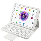iPad Pro 10.5 Keyboard Case,Eoso Folding PU Leather Folio Cover with Removable Bluetooth Keyboard for iPad Pro 10.5' (White)