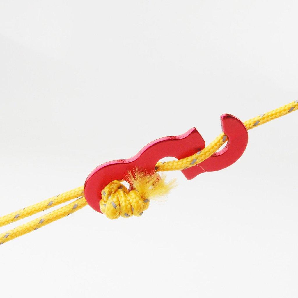 IPOTCH 10x Cuerda Carpa Tensor Tensoras Tienda de Campa/ña para Acampar al Aire Libre Senderismo Viajes