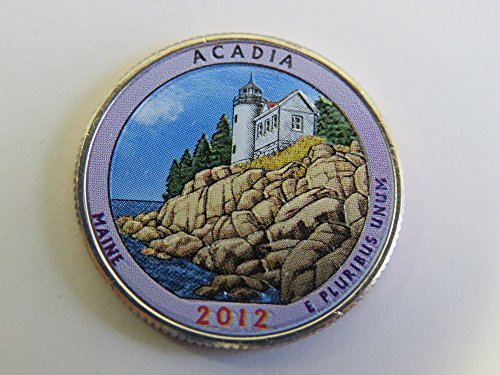 2012 Various Mint Marks Acadia National Park Colorized Quarter Choice Uncirculated