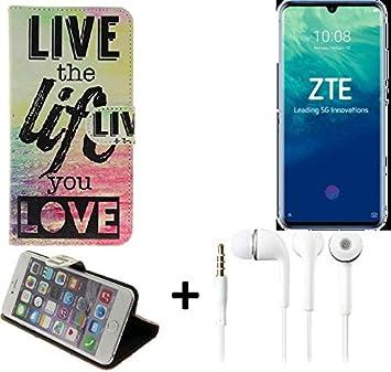 K-S-Trade® 360° Funda Smartphone para ZTE Blade V10, Live The Life ...