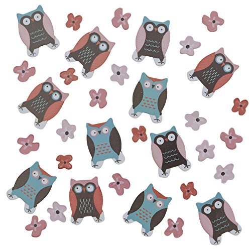 Ginger Ray PO-406 Patchwork Owl Table Party Confetti, Mixed, 14g,