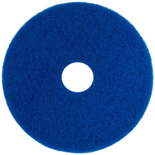(Glit 20206 TK Polyester Blend Blue Scrubbing Floor Pad, Synthetic Blend Resin, Aluminum Oxide Grit, 17
