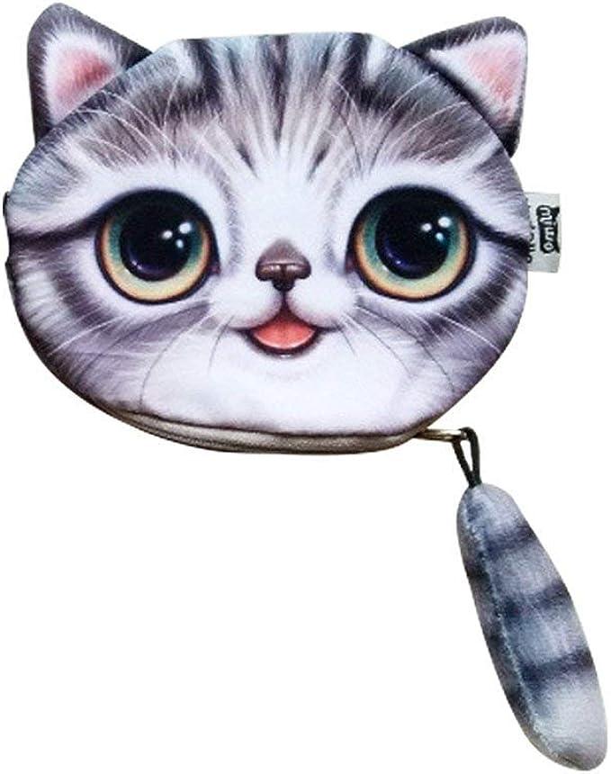 Amazon.com: ABCmall - Monedero con cremallera para gato ...