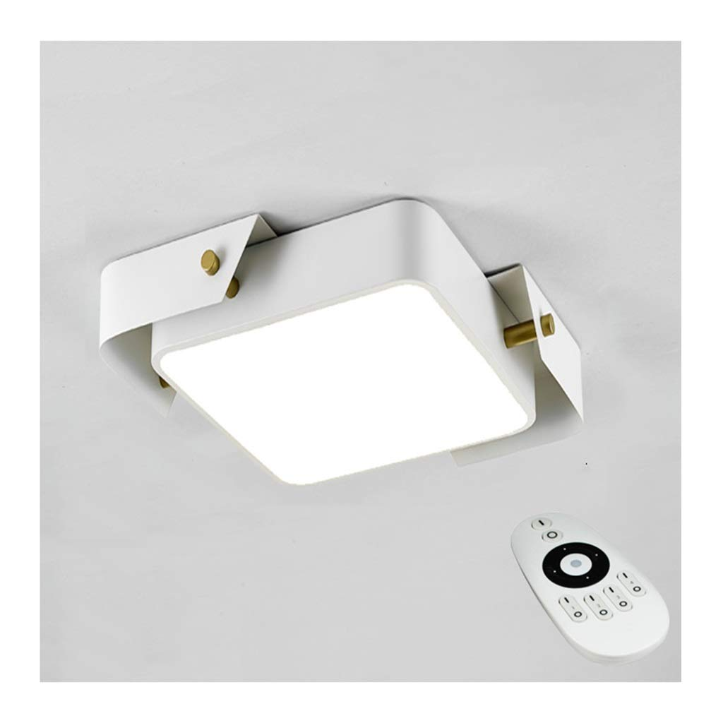 $天井灯 シーリングライト - モダンなシンプルなシーリングランプLED調光対応ホワイトスクエアアイアンアクリル家の装飾リビングルームベッドルームスタディホテルオフィス照明 [エネルギークラスA +] (Color : Stepless dimming, Size : 50cm) 50cm Stepless dimming B07STN5HMT
