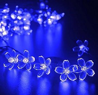 Solar Weihnachtsbeleuchtung.Led Blumen Solar Lichterkette 7 Meter 50er Wasserdicht Aussenlichterkette Weihnachtsbeleuchtung Solar Bluten Leuchtkette Fur Garten Hochzeit