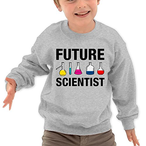 Puppylol Future Scientist Kids Classic Crew-Neck Pullover Hoodie Ash 3 Toddler Playmobil Dream Castle