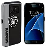 Forever Collectibles Dual Hybrid BOLD Series Case for Samsung Galaxy S7 - NFL Oakland Raiders