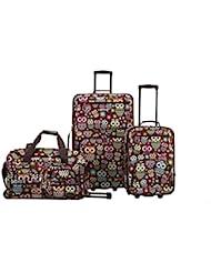 Rockland 3 Piece Luggage Set, Owl, One Size