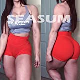 SEASUM Women Sports Short Booty Sexy Lingerie Gym