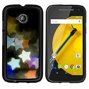 For Motorola Moto E2 E2nd Gen Case , Diseño Bokeh Estrellas- Diseño Patrón Teléfono Caso Cubierta Case Bumper Duro Protección Case Cover Funda