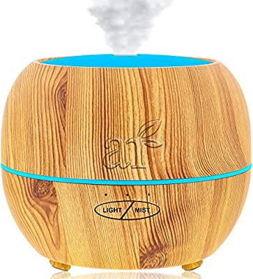 ArtNaturals Aromatherapy Essential Oil Diffuser – (150 ml Tank) – Ultrasonic Aroma Humidifier - Adjustable Mist Mode, Auto Shut-Off and 7 Color LED Lights – For Home, Office, Bedroom and Baby