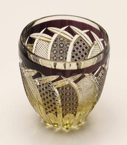 Edo Kiriko Guinomi (Sake Glass): Brown