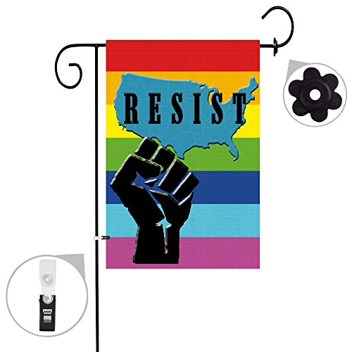 Bonsai Tree Resist rainbow gay pride burlap garden flag Bann